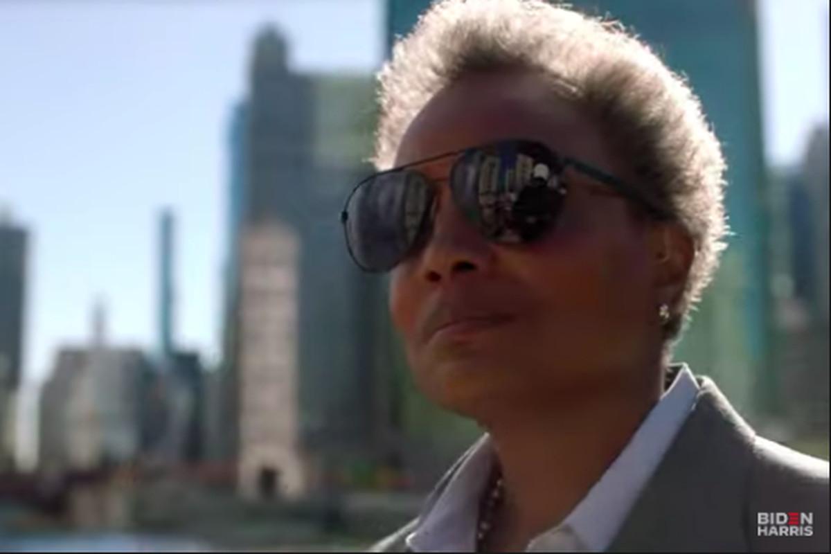 Mayor Lori Lightfoot appears alongside 12 other Black mayors in new TV and digital ads for Democratic Presidential nominee Joe Biden.