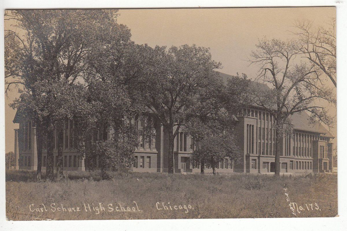 Carl Schurz High School in Edison Park | Courtesy Northwest Chicago Historical Society