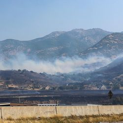 Fire burns homes and property near Weber Canyon on Tuesday, Sept. 5, 2017.