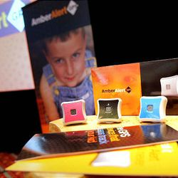 Amber Alert GPS launches a child tracking device at a press conference at the Marriott in downtown Salt Lake City Monday.