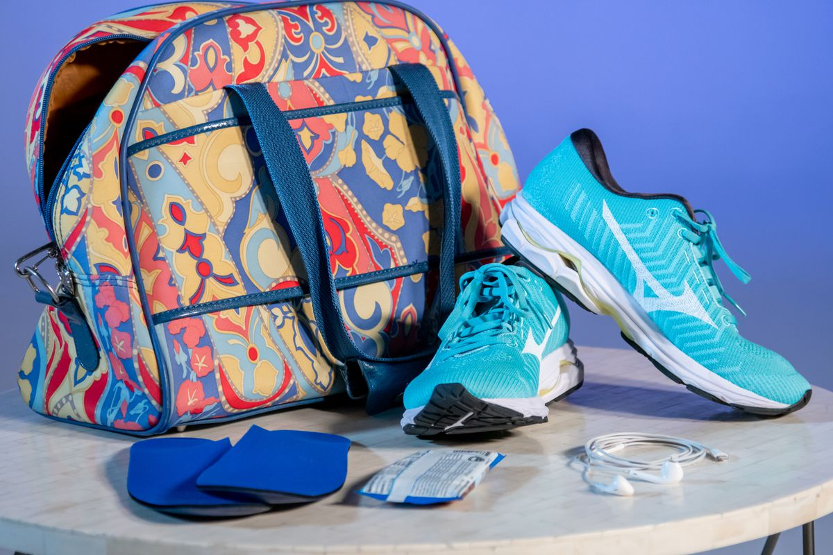 Health and fitness expert Stephanie Mansour believes every gym bag should have good shoes, shoe inserts, a snack and a way to listen to music in order to fail-proof your workout.