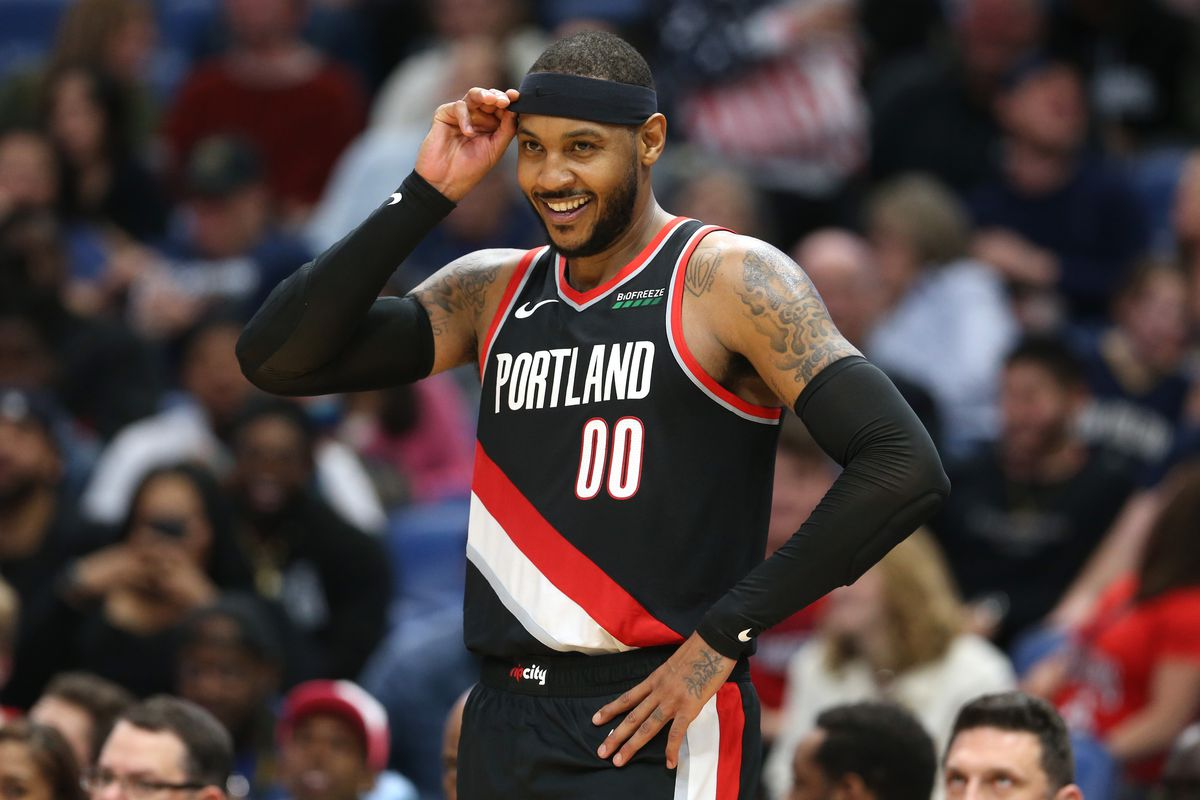 Image result for carmelo anthony trail blazers