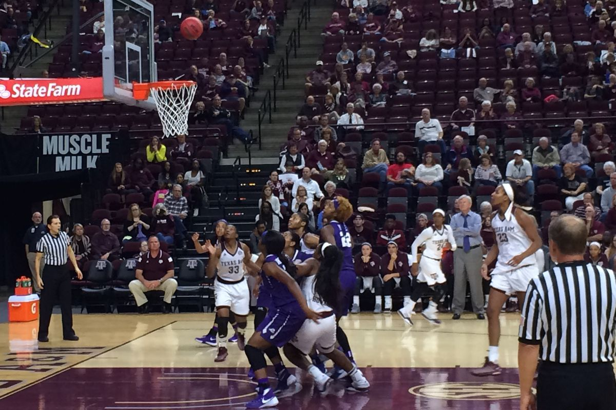 A shot goes up for the Ags vs TCU