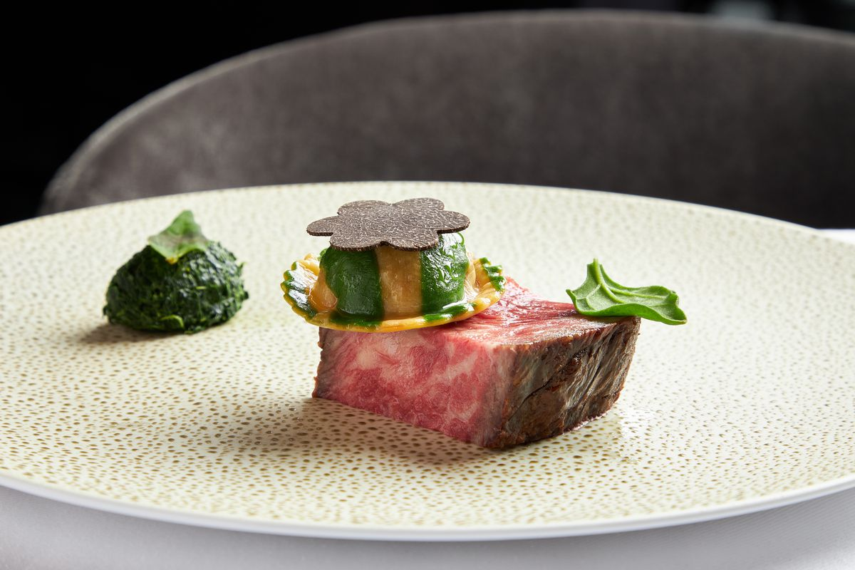 Australian wagyu and oxtail at Luce
