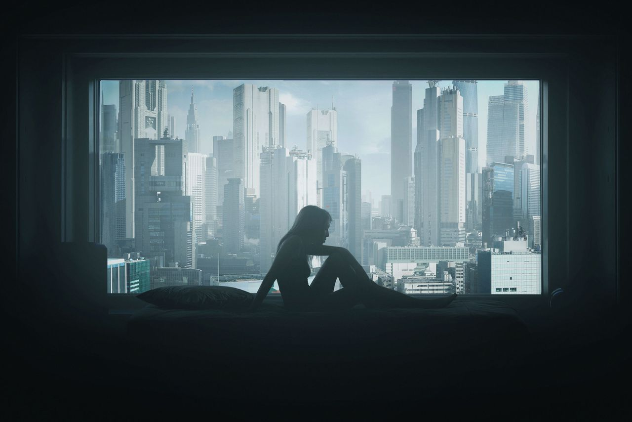 39 ghost in the shell 39 intro recreated in haunting still. Black Bedroom Furniture Sets. Home Design Ideas