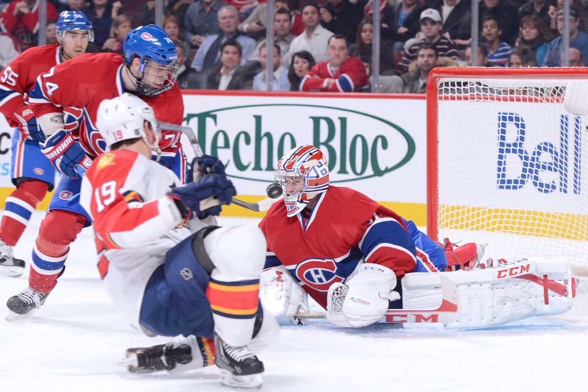 One of F Scottie Upshall's season-high(!) 4 SOG Tuesday night in Montreal. He equaled or surpassed that single-game total on five occasions in 26 appearances during 2011-12.