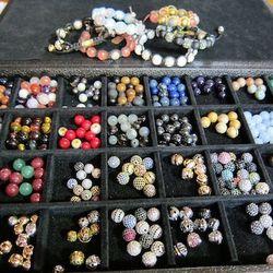 Beads for customizing bracelets
