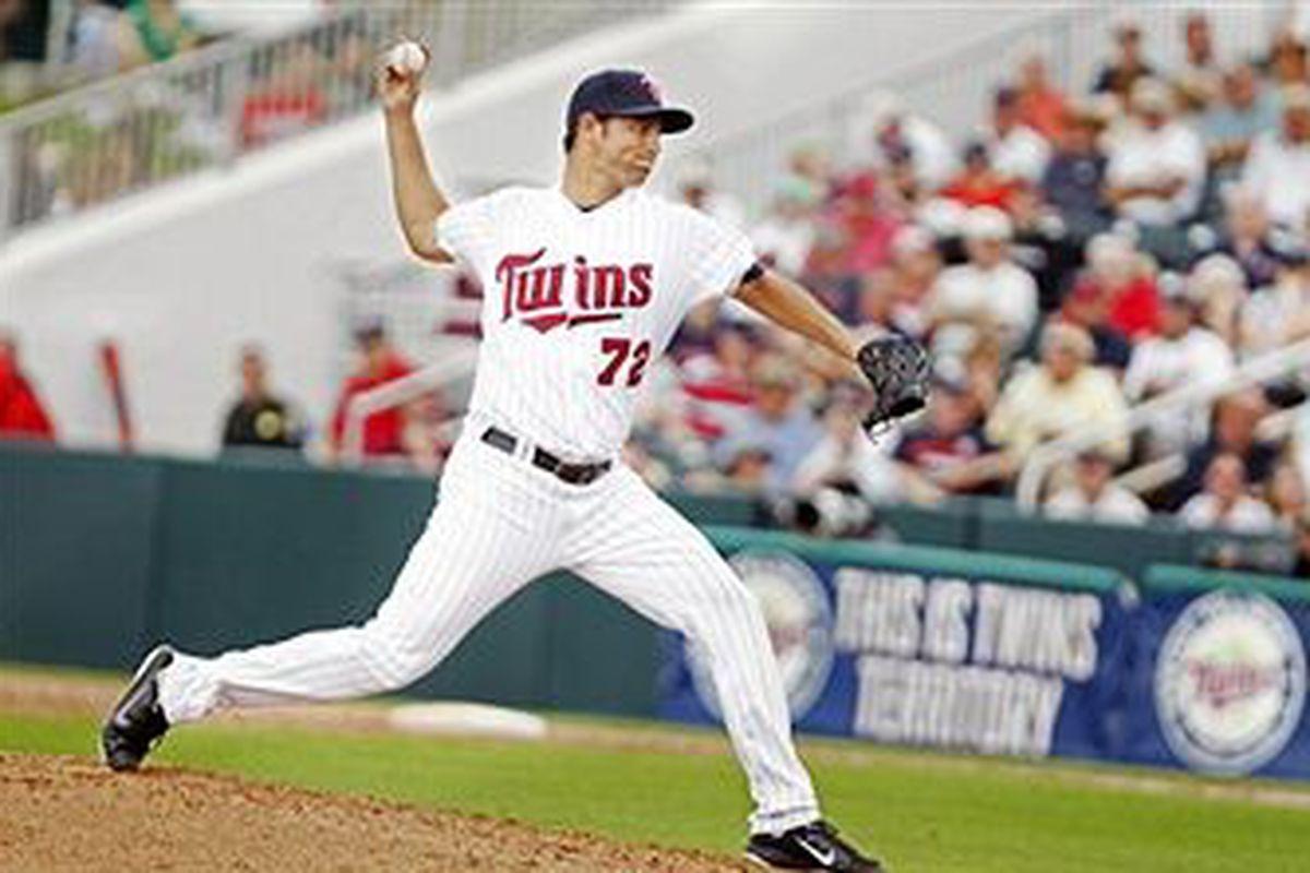 Minnesota Twins pitcher Carlos Gutierrez (Photo by Bruce Kluckhohn, Getty Images)