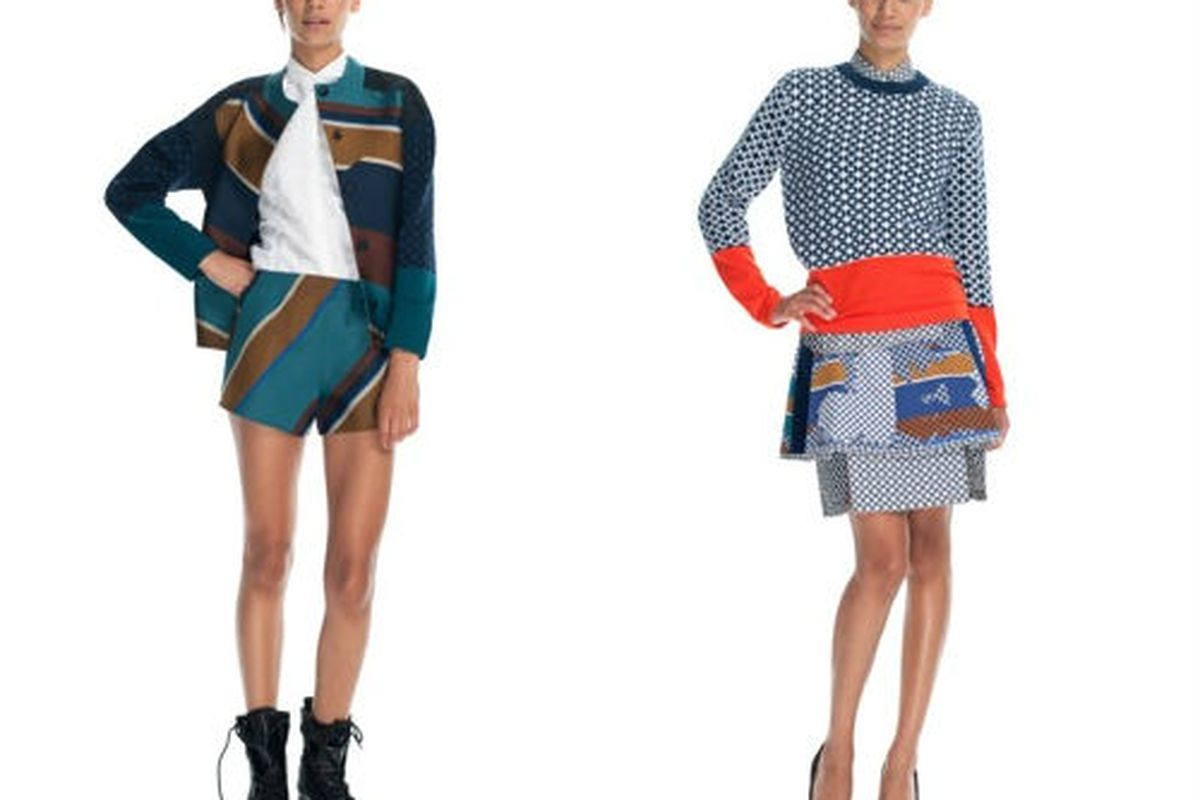 """<a href=""""http://modaoperandi.com/ostwald-helgason-resort-2013/looks/look-6-14550/"""">Ostwald Helgason</a> trunk show currently available for pre-sale.  A deposit of about $250 is required to reserve these pieces which cost between $370 and $835"""