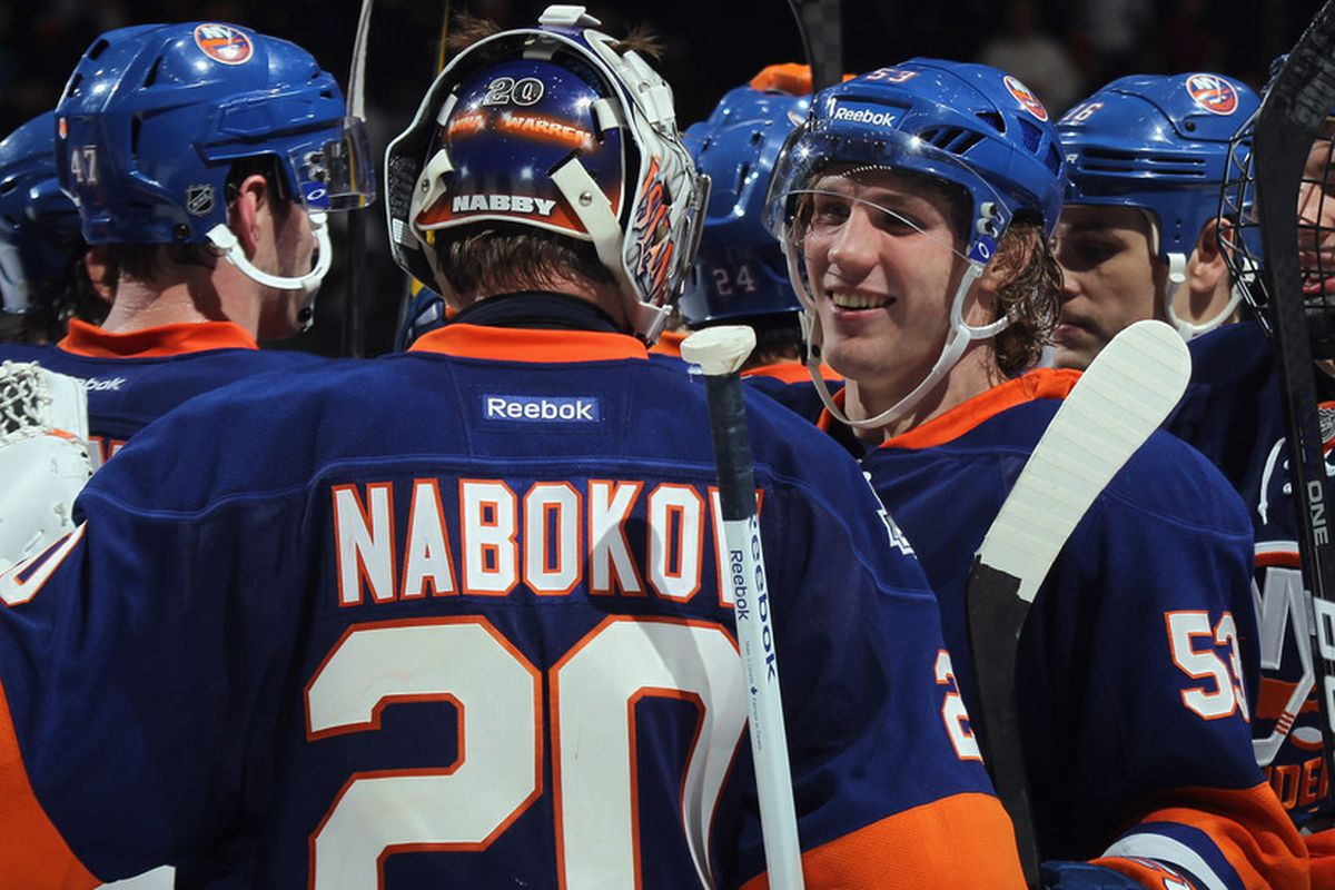 UNIONDALE, NY - JULY 1, 2012: The Islanders say good-bye to each other as their season came to a crushing, bitter end on Sunday, the first day of NHL free agency.