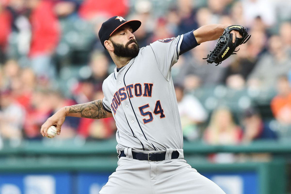 MLB: Houston Astros at Cleveland Indians