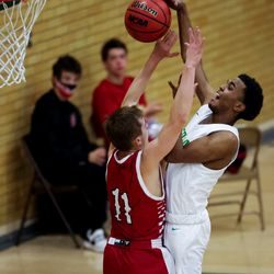Kearns and American Fork compete in a boys basketball game in Kearns on Friday, Jan. 8, 2021.
