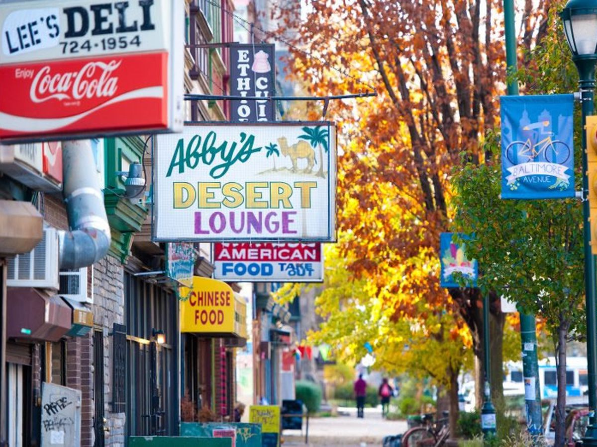 Baltimore Avenue has lots of great spots to eat.