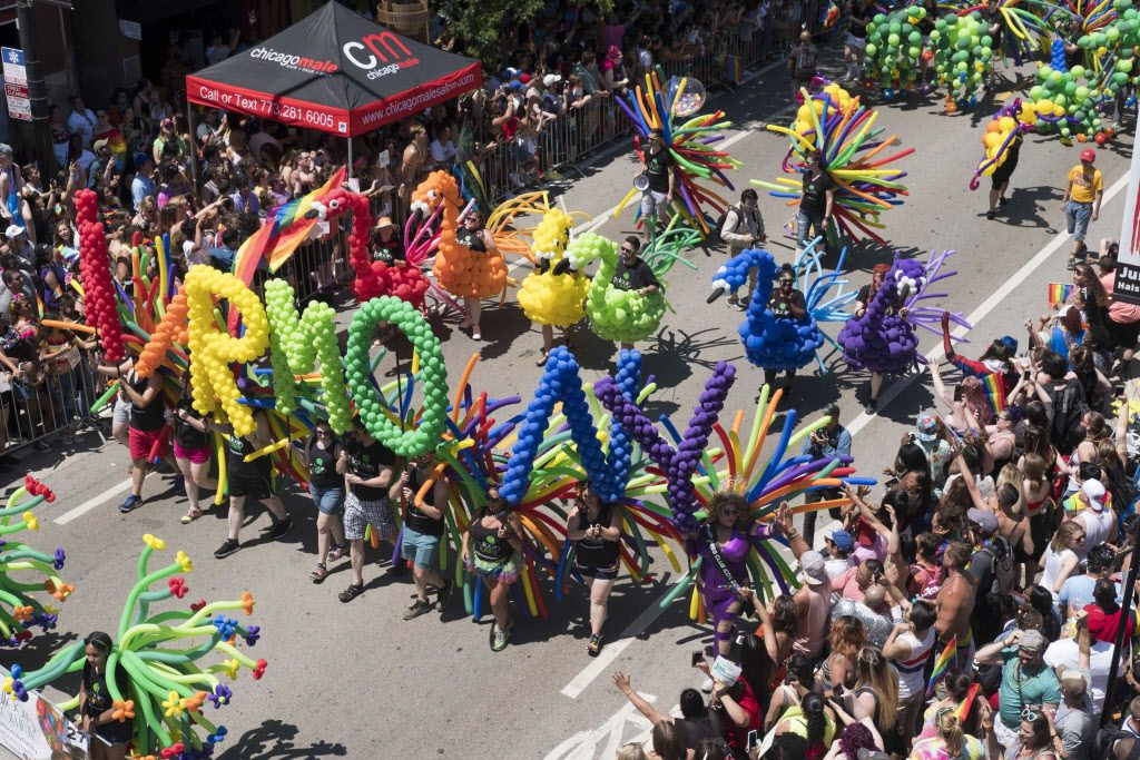 The Pride Parade is one of Boystown's biggest events each year.   Rick Majewski/For the Sun-Times.