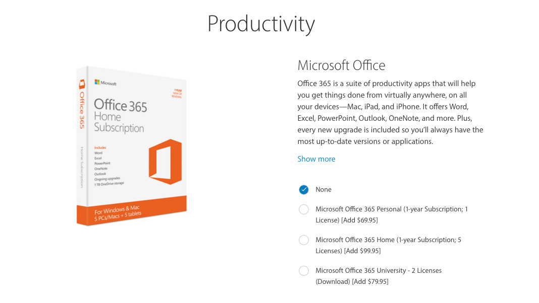 Apple is selling Microsoft Office 365 as an accessory for