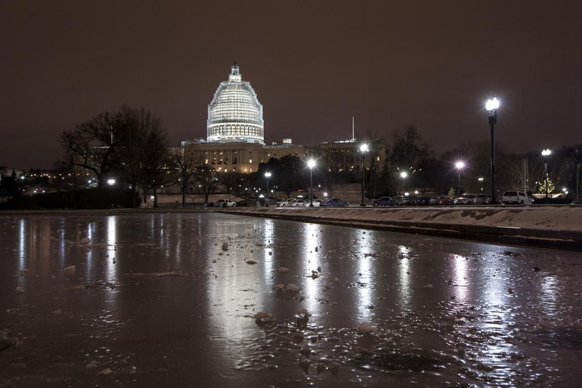 Sub-freezing temperatures continue on Capitol Hill in Washington early Friday morning, Jan. 9, 2015.