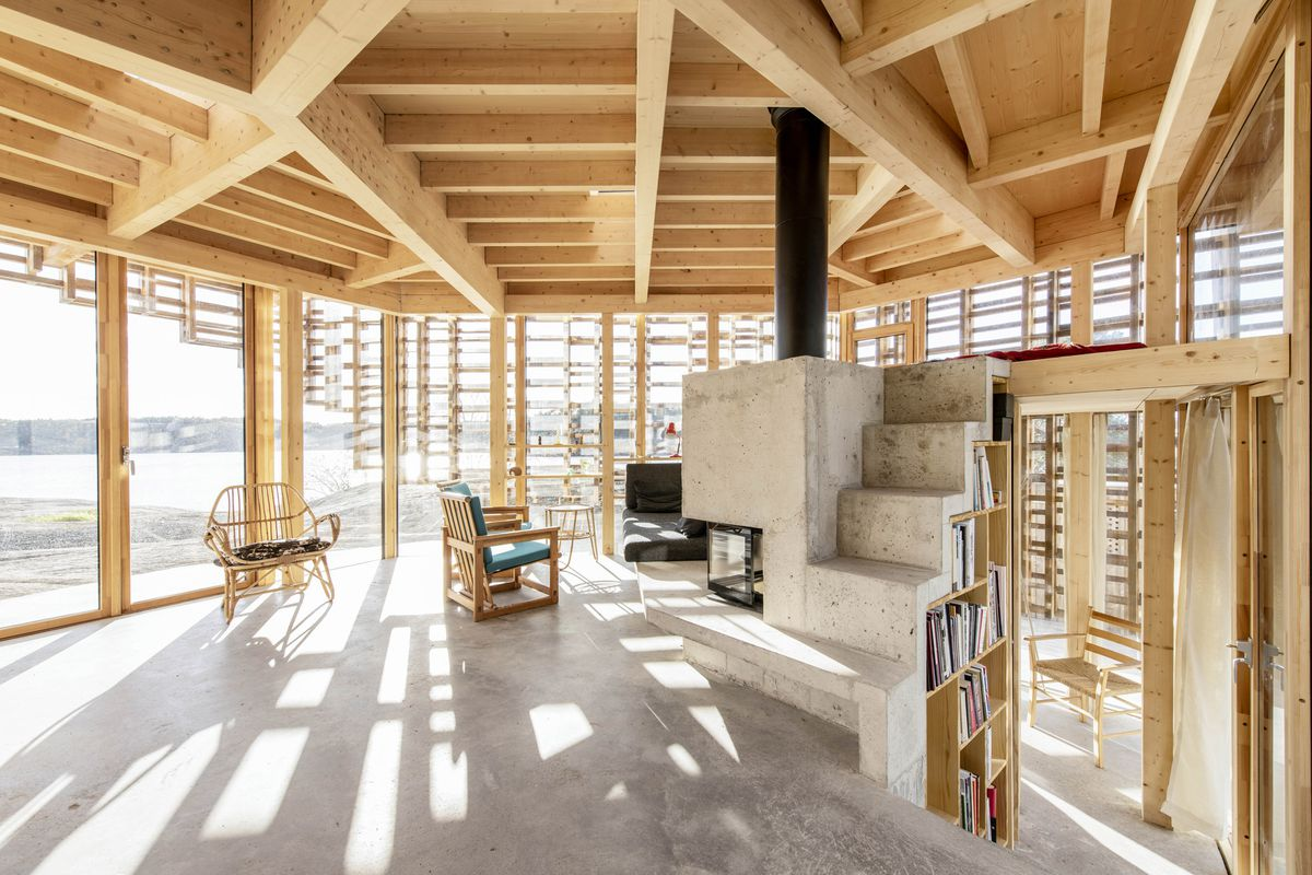 Modern house in Norway uses timber frame to play with light - Curbed
