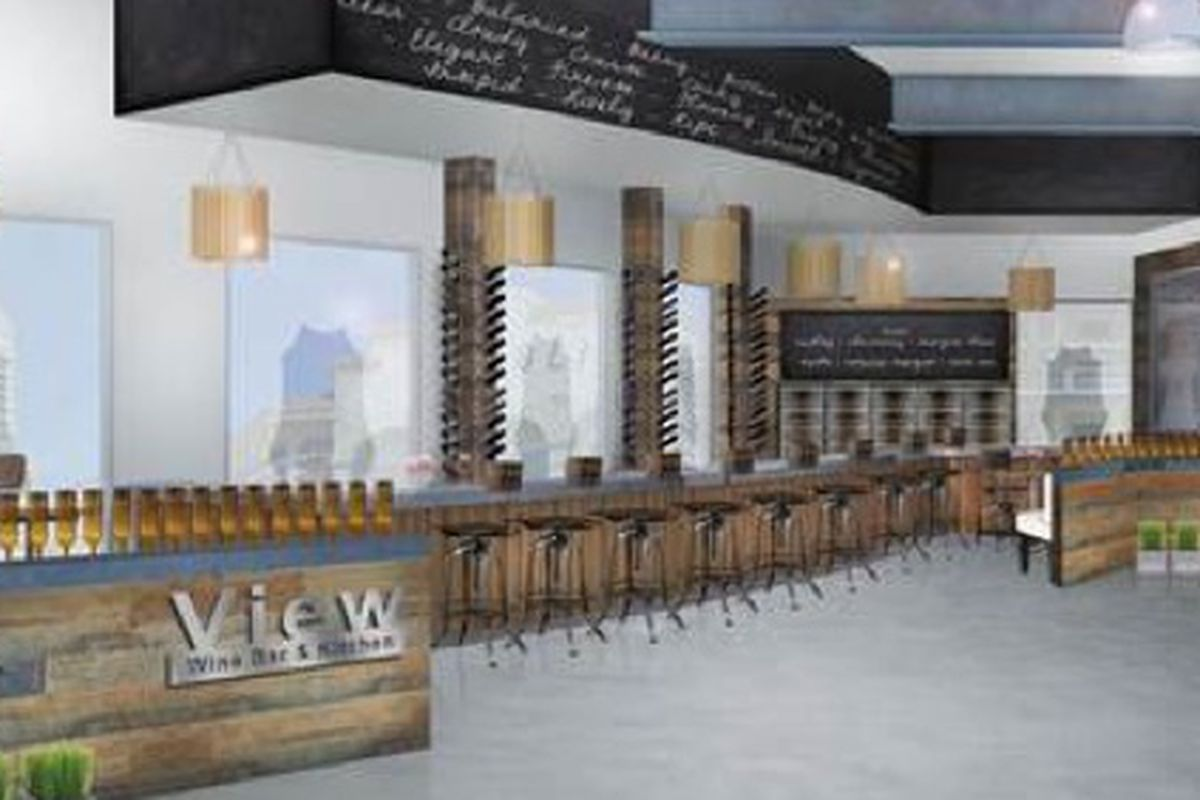 A rendering of View Wine Bar & Kitchen. Below: Johnny Church