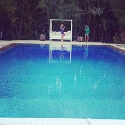 The pool was a popular selfie spot.