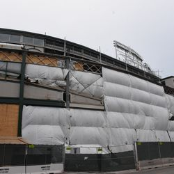 South front of the ballpark on Addison