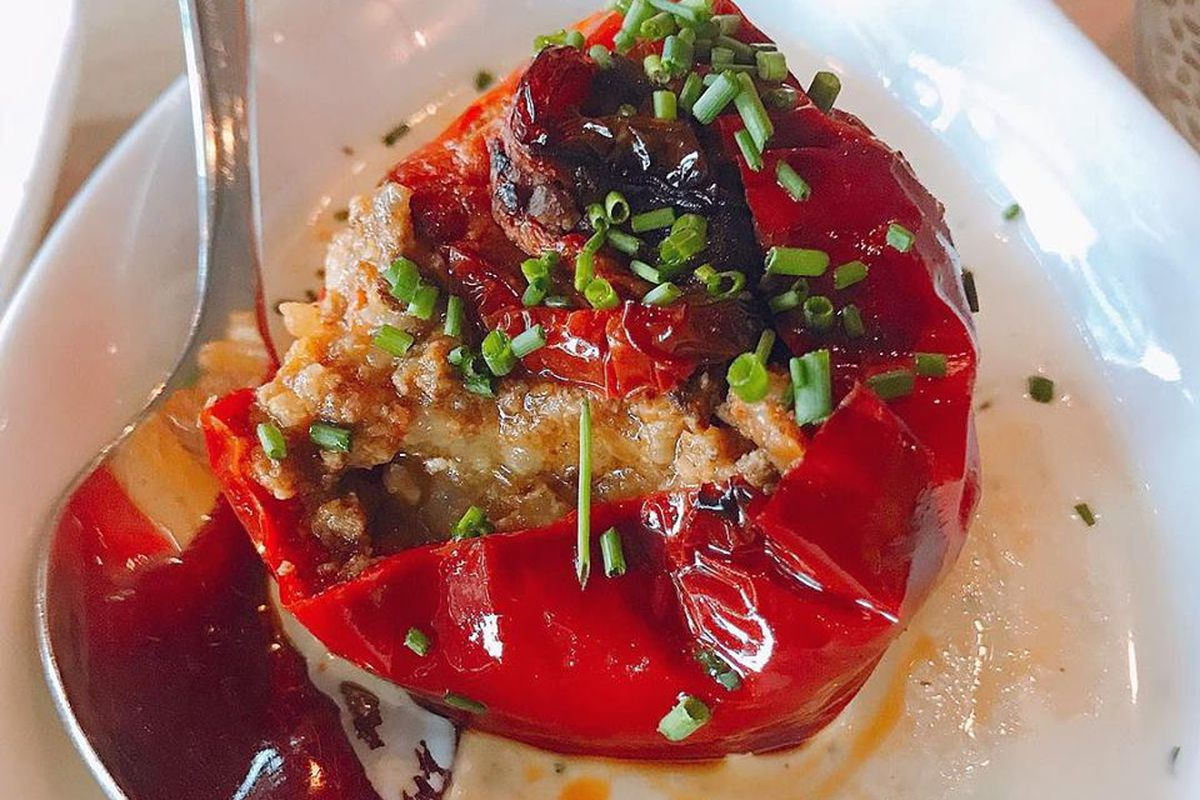 Stuffed Peppers In Dill Sauce At Ambar Clarendon Photo Northern Virginia Magazine Dining
