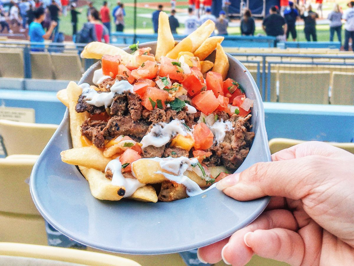 There is no shortage of french fry options at Dodger Stadium.