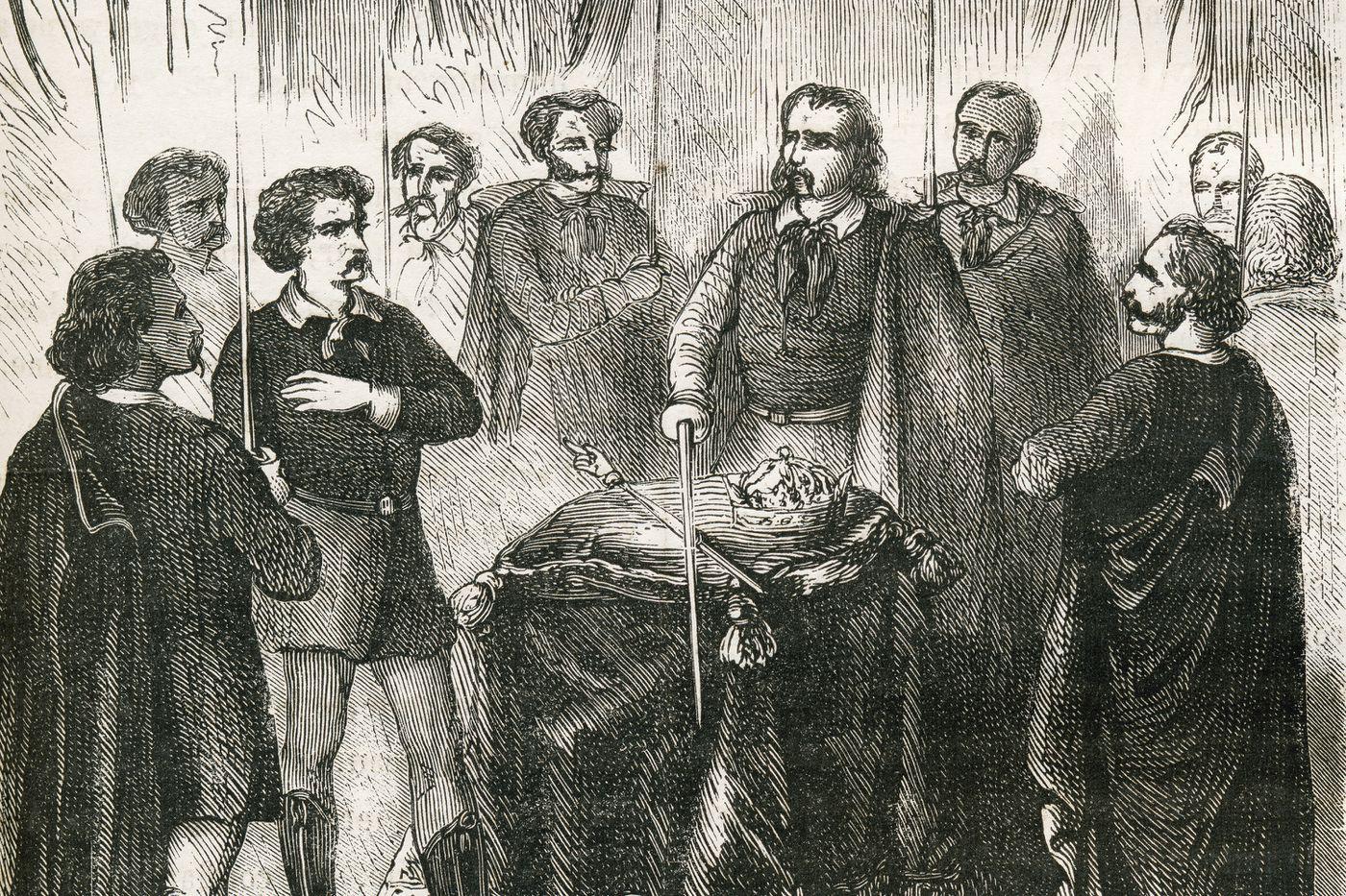 Một bản vẽ mô tả sự khởi đầu của một thành viên Illuminati. Hình ảnh phổ quát Nhóm / Getty Images