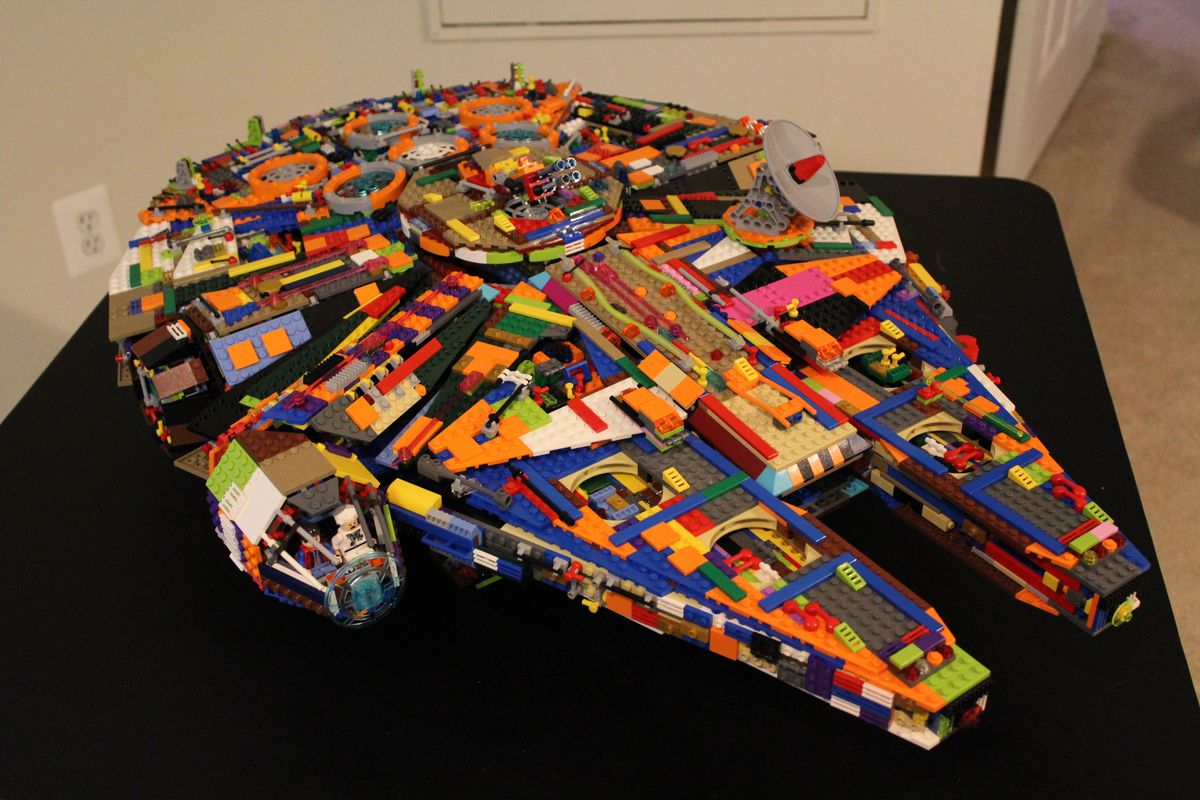 Save some cash and make your own colorful Lego Millennium Falcon