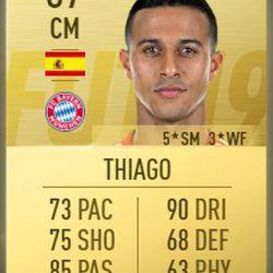 Thiago in FIFA 2019