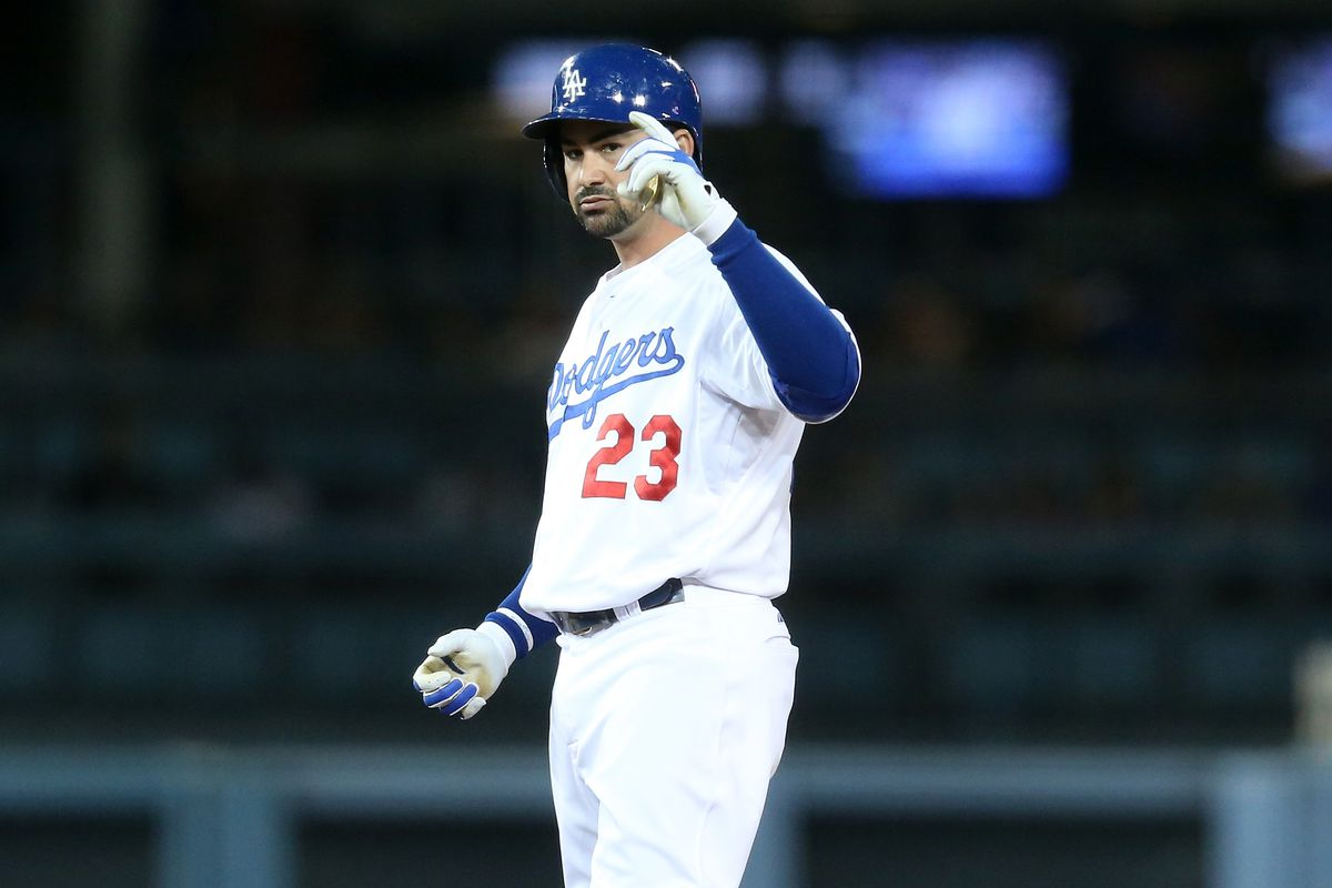 Adrian Gonzalez is on pace to set a Dodgers record for doubles in a season.
