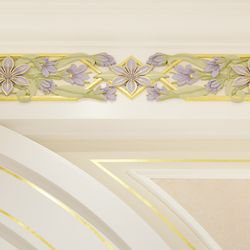 The Manitoba provincial flower, the prairie crocus, is featured throughout the Winnipeg Manitoba Temple.