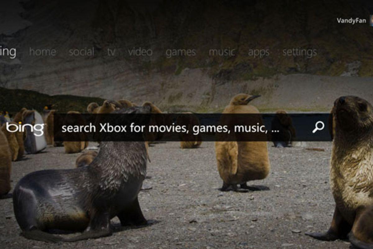 Xbox Live TV dashboard