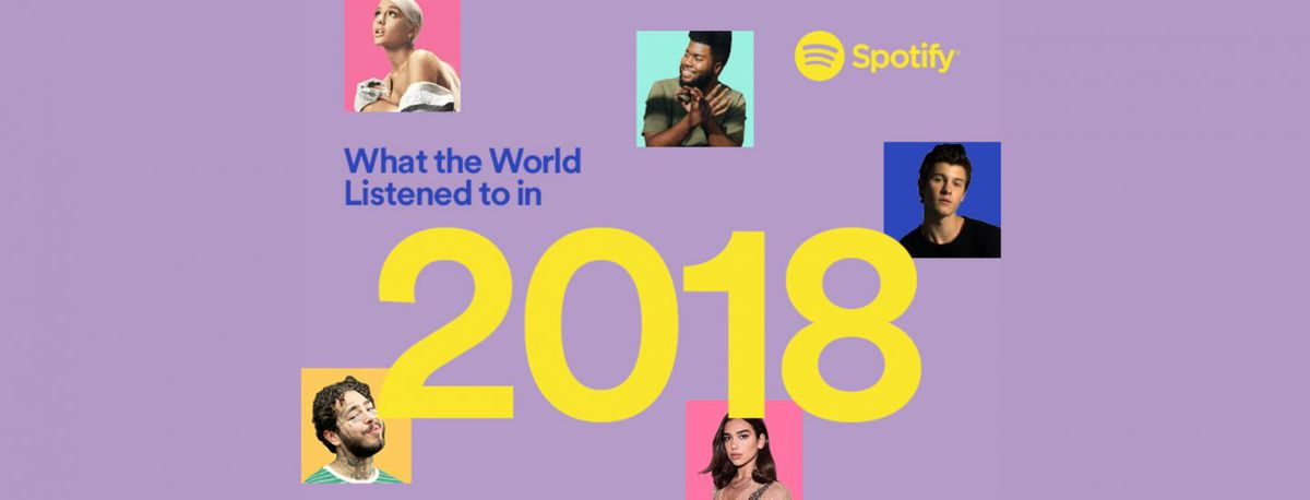 Spotify year-end 2018 graphic.