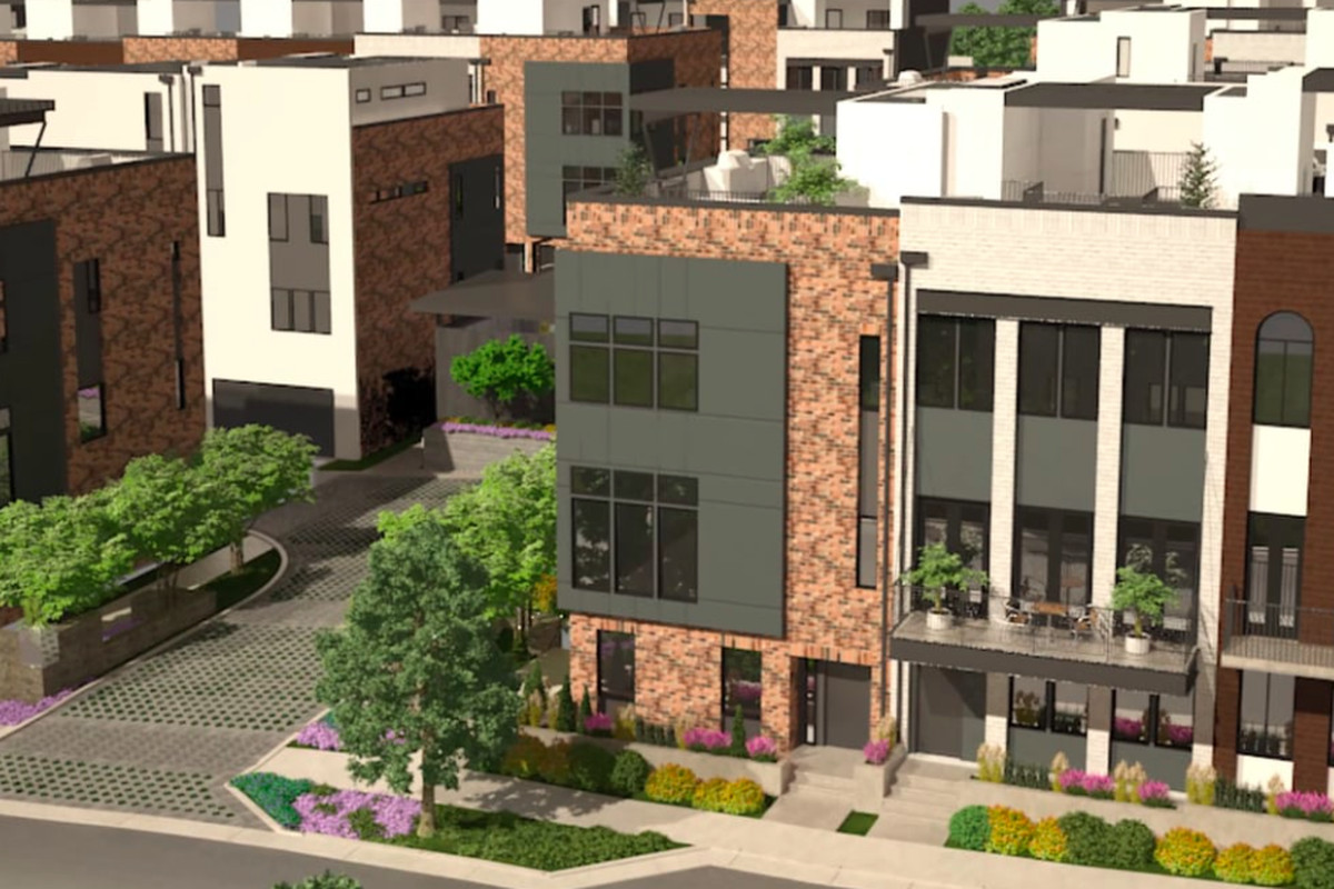 A rendering of an Atlanta project called The Chelsea Westside.