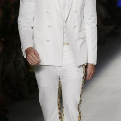 Argentine model Martin Mica, 27,  wears a creation part of the Just Cavalli Fall-Winter 2012-2013 collection that was presented in Milan, Italy, Friday Sept. 21, 2012.