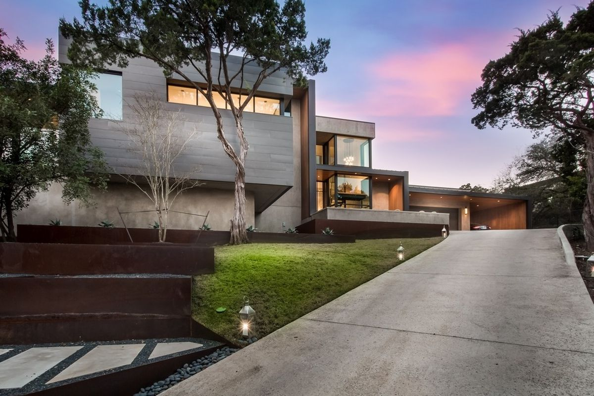 stunning west lake hills contemporary hits market for 6 8m curbed