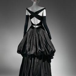 A 1948 evening dress from behind.