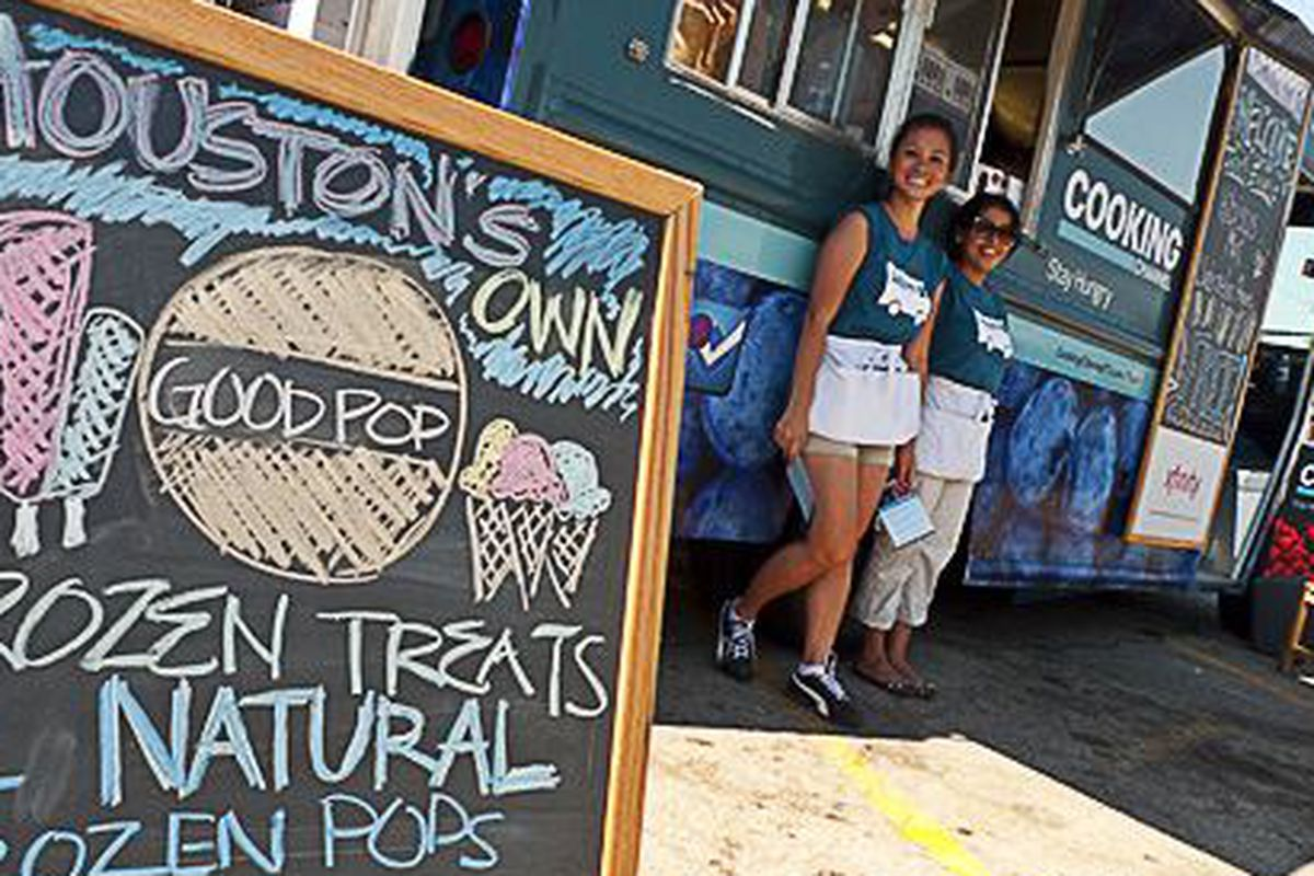 The Cooking Channel Frozen Treat Truck stops in Houston.