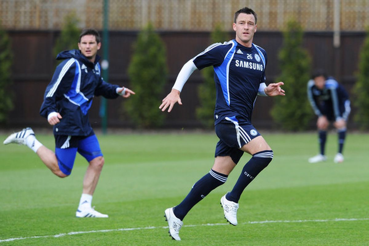 Chelsea's homegrown duo of Lampard and Terry