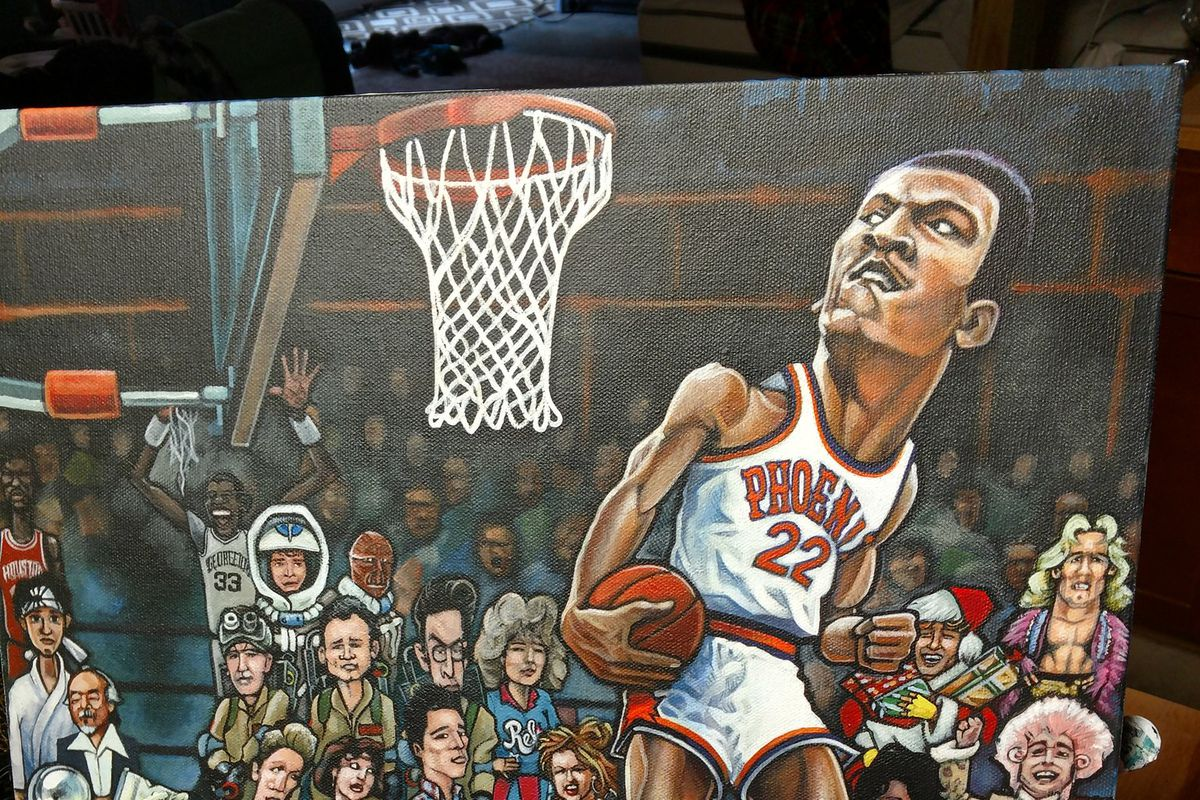 Indiana artist commemorates Larry Nance in 1984 Slam Dunk Contest with latest work