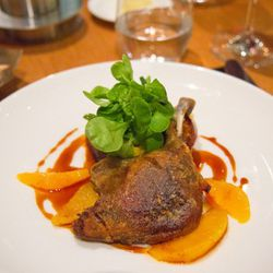 """Duck confit à l'Orange from The Bar Room at The Modern by <a href=""""http://www.flickr.com/photos/jmoranmoya/5965165340/in/pool-eater/"""">jmoranmoya</a>. <br />"""