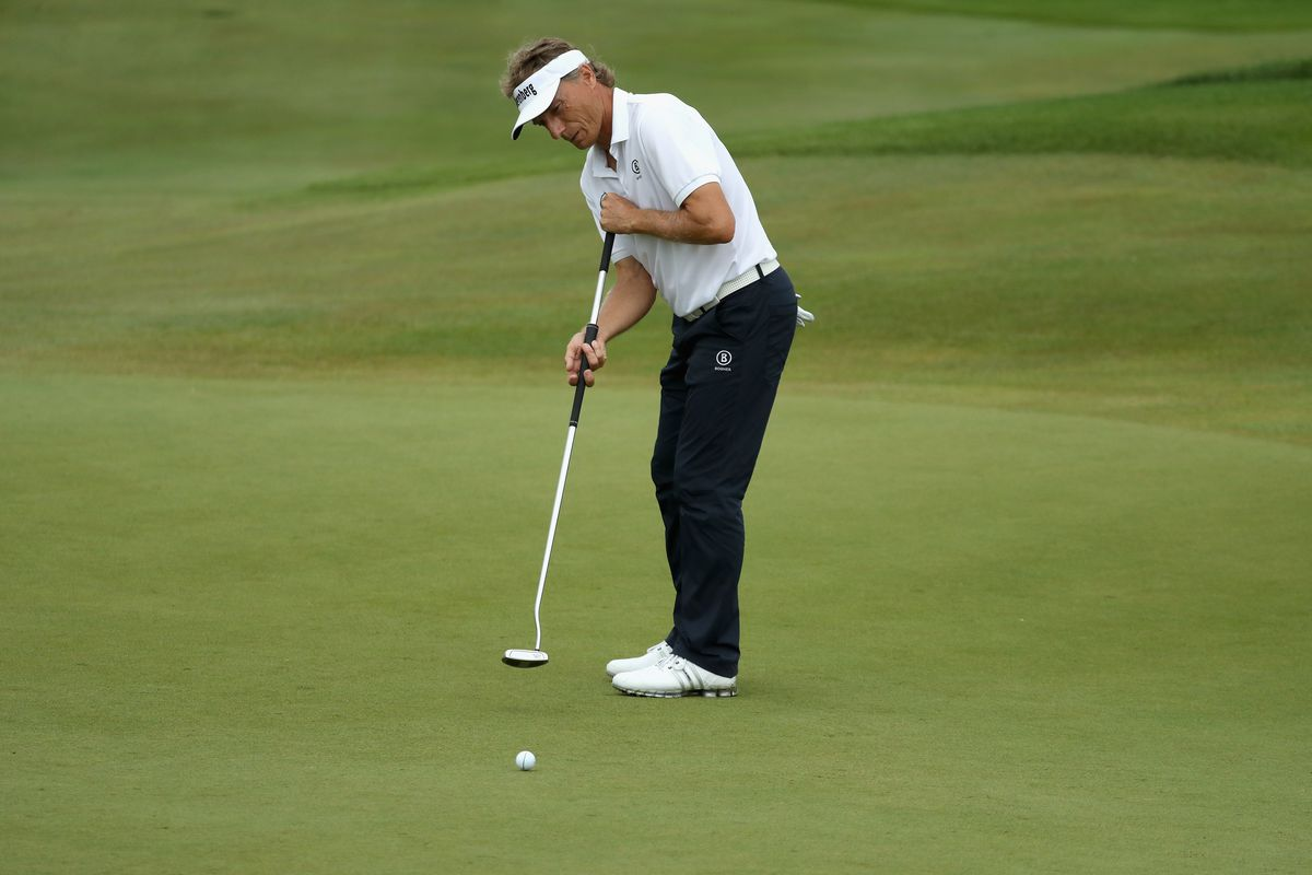 Bernhard Langer Refutes Challenges That He S Anchoring His