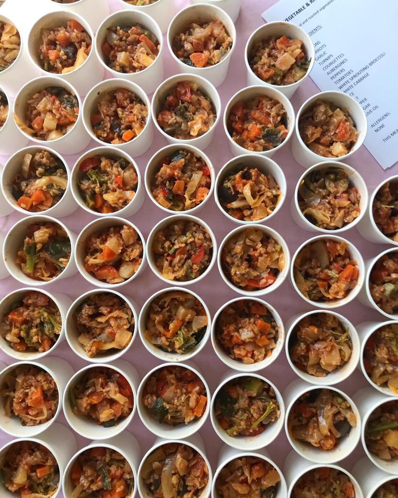Meals prepared for Deliver Aid by chef Anna Tobias at her home in Newington Green, north London