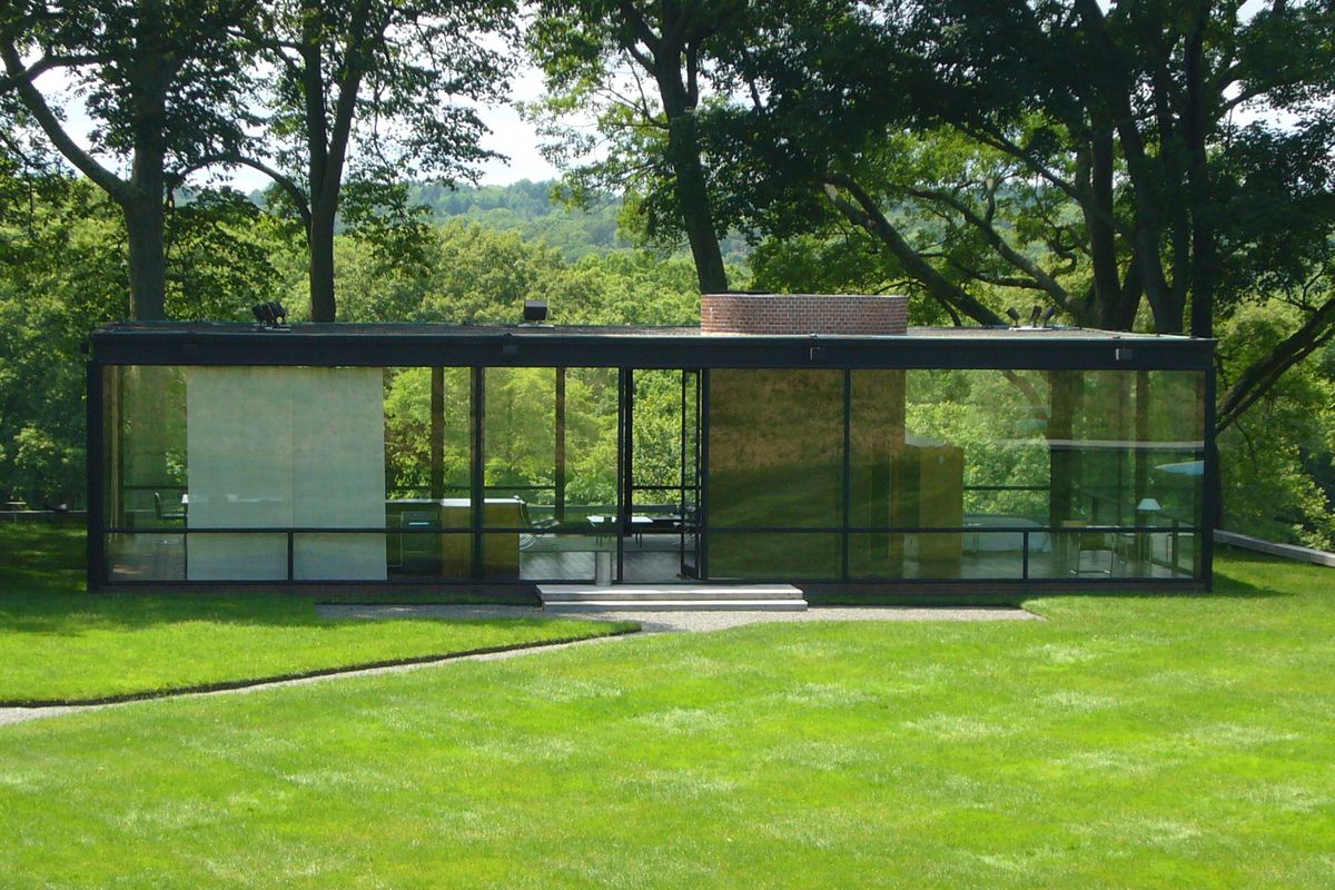Philip johnsons glass house in new canaan connecticut a new book by dallas morning news architecture critic mark lamster examines johnsons life and