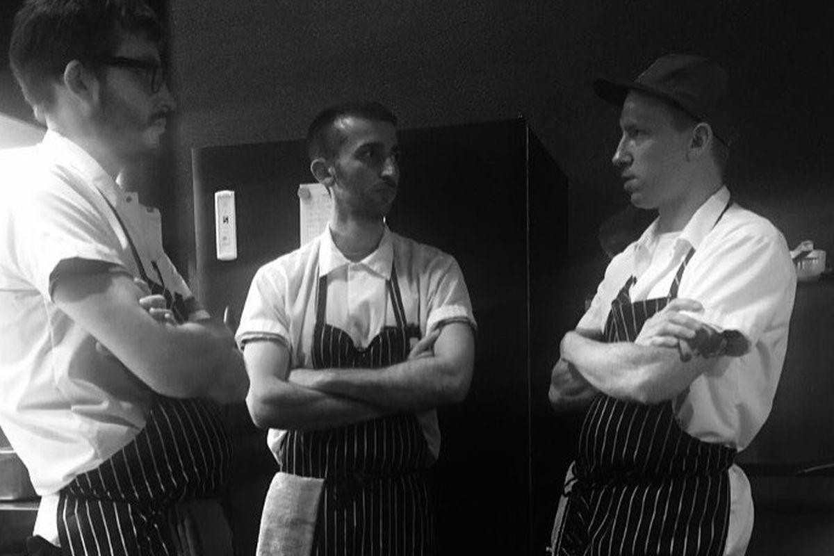 The cooking team at Quaintrelle, led by Bill Wallender, prepare to open June 29