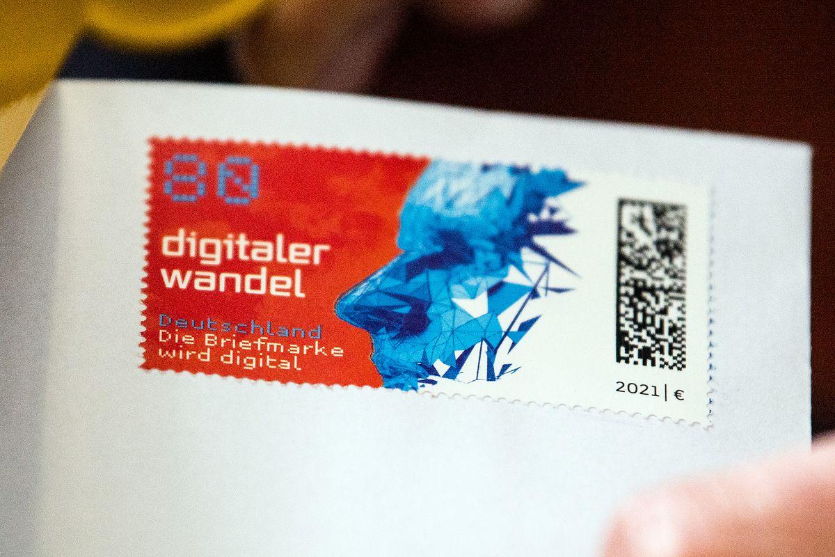 Stamp with matrix code