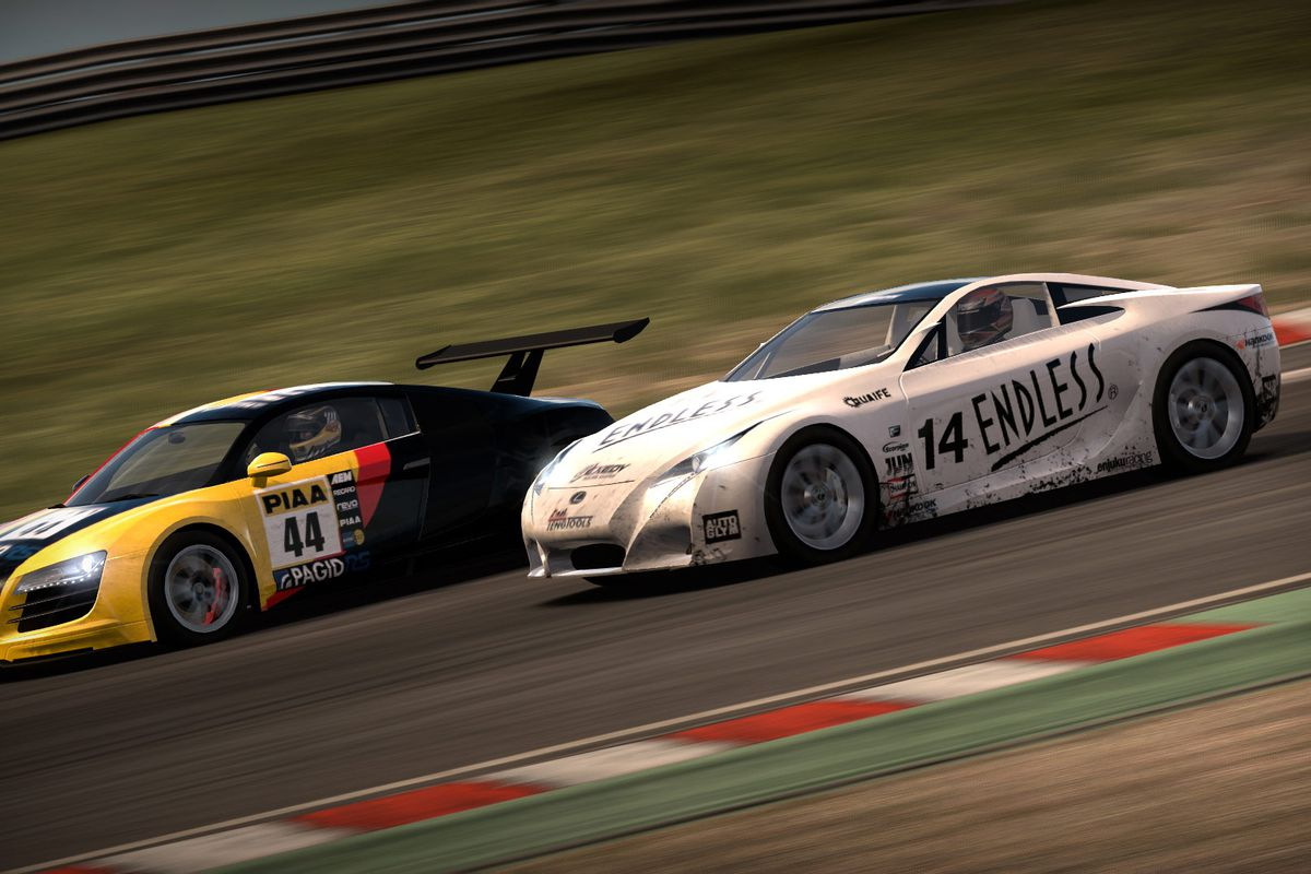 Two cars race in Need for Speed: Shift