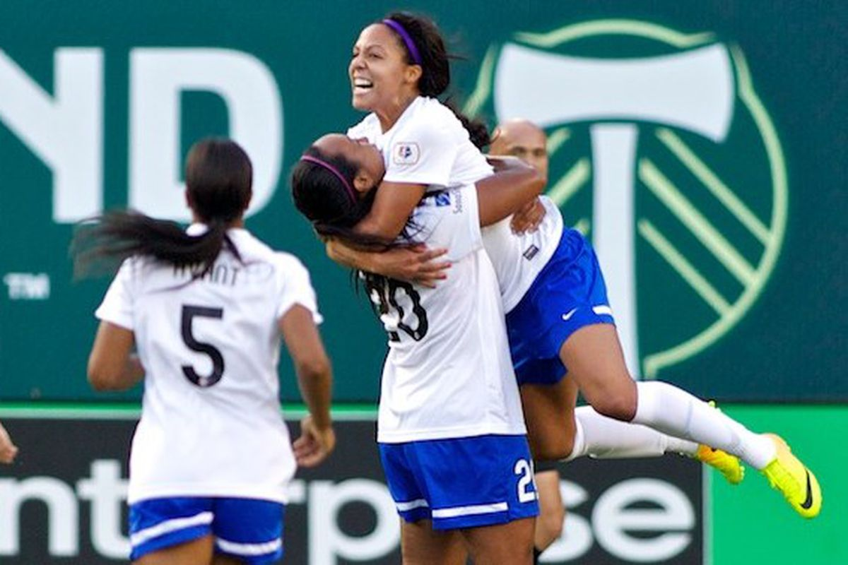 Sydney Leroux and the Breakers look to take down top-ranked Sky Blue FC on Saturday