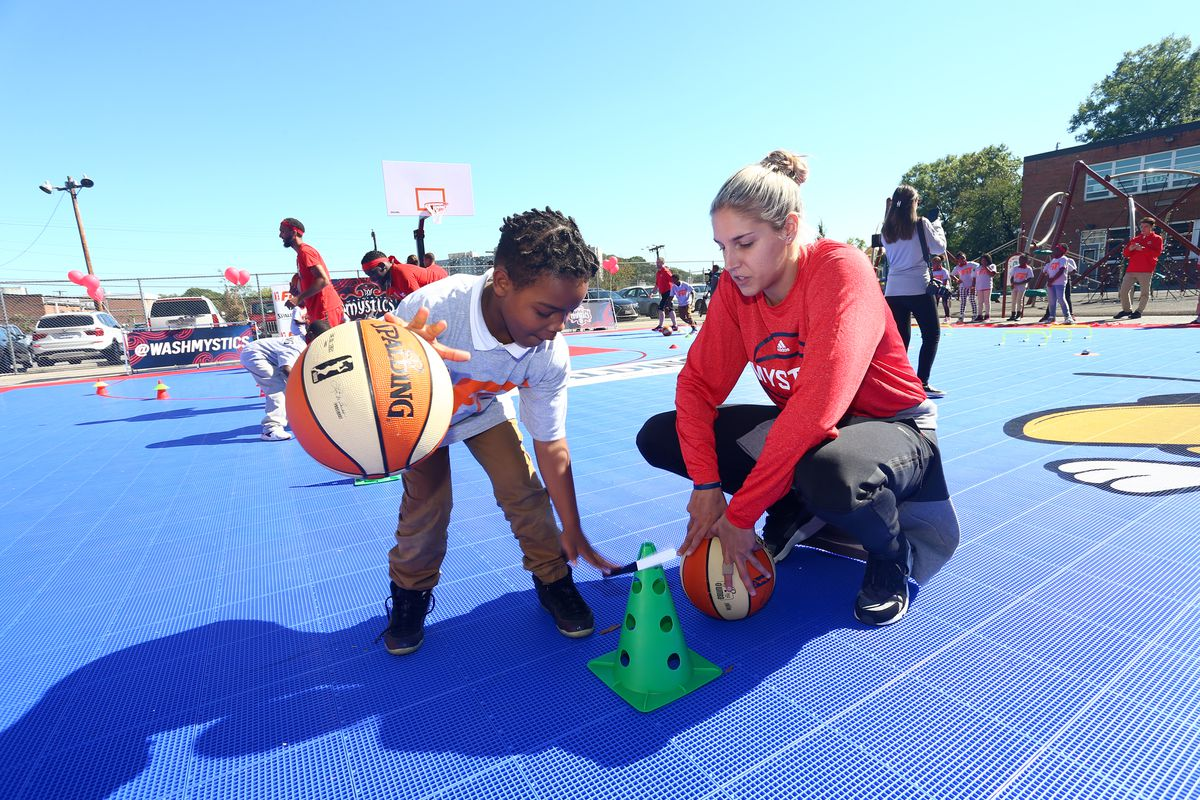 Court Dedication and WNBA Fit Clinic