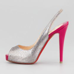 """Daughter's third birthday party: <b>Christian Louboutin</b>, <a href=""""http://www.neimanmarcus.com/p/Christian-Louboutin-No-Prive-Glittered-Slingback-Red-Sole-Pump-Grenadine/prod157790023_cat40510753__/?icid=&searchType=EndecaDrivenCat&rte=%252Fcategory.se"""